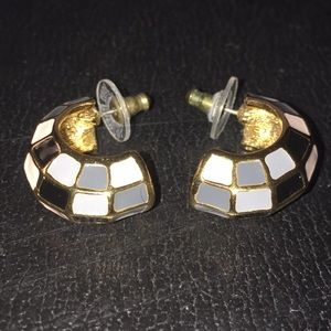 Vintage 80's Joan Rivers Enamel Post Earrings
